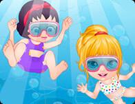العاب سباحة باربي