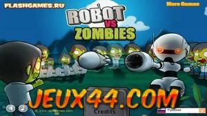 لعبة الروبوت ضد الزومبي